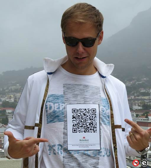 Armin van Buuren sends a shout-out to SA with innovative Heineken® QR Code at Ultra