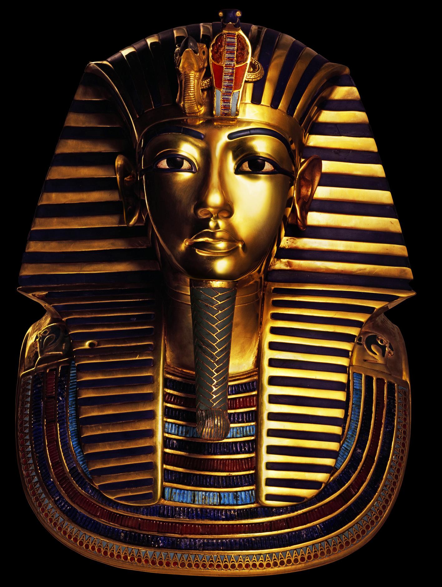 Tutankhamun's gold mask back on display in Egypt after beard restoration