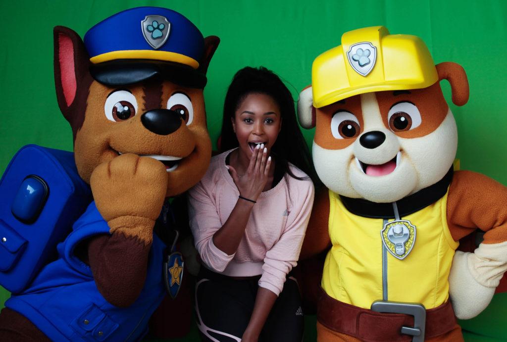 Minnie Dlamini and Paw Paw Patrol | Image credit Nickelodeon
