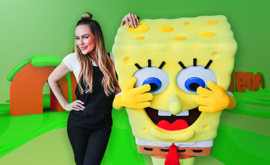 Karlien Van Jaarsveld & Spongebob Squarepants | Image credit Nickelodeon