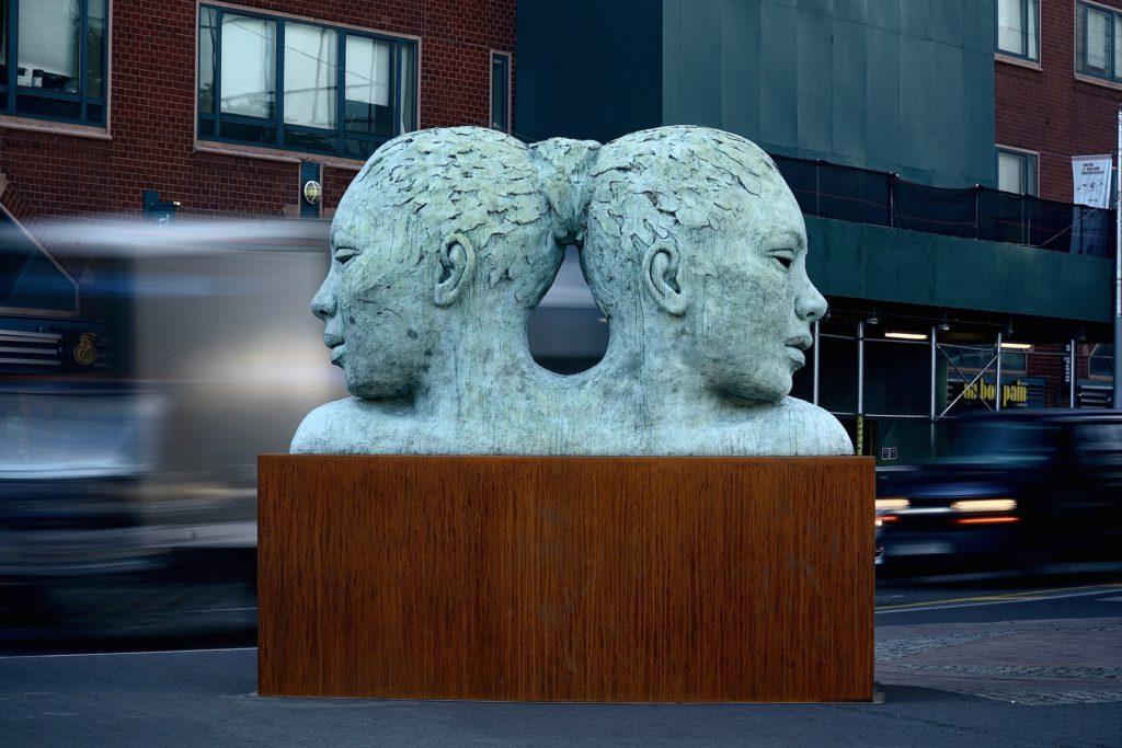 Morphous in Union Square, New york
