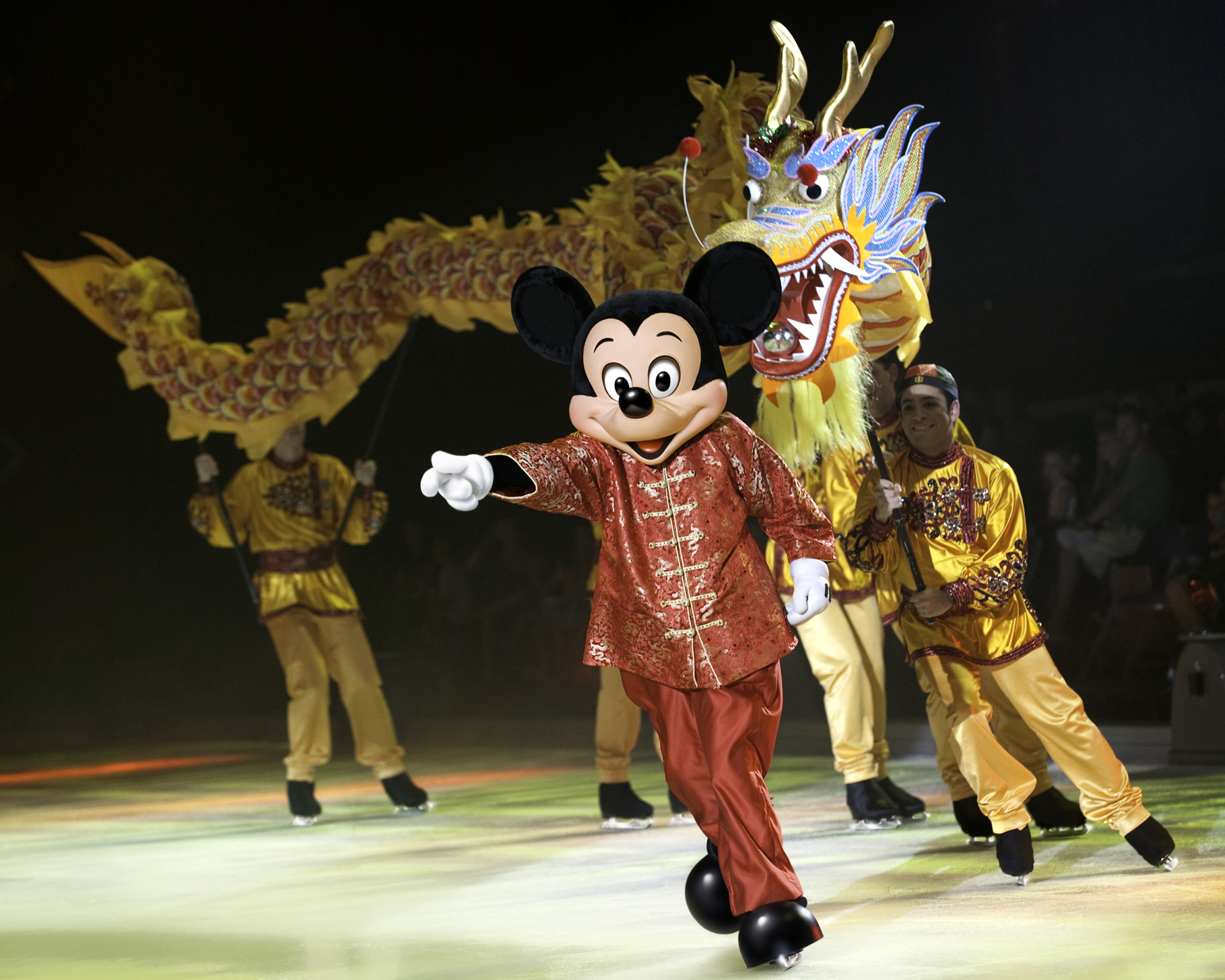 Photo credit: Mickey Mouse celebrating the Chinese New Year in Disney on Ice Let's Celebrate. Photo credit: ©Disney, ©Feld Entertainment
