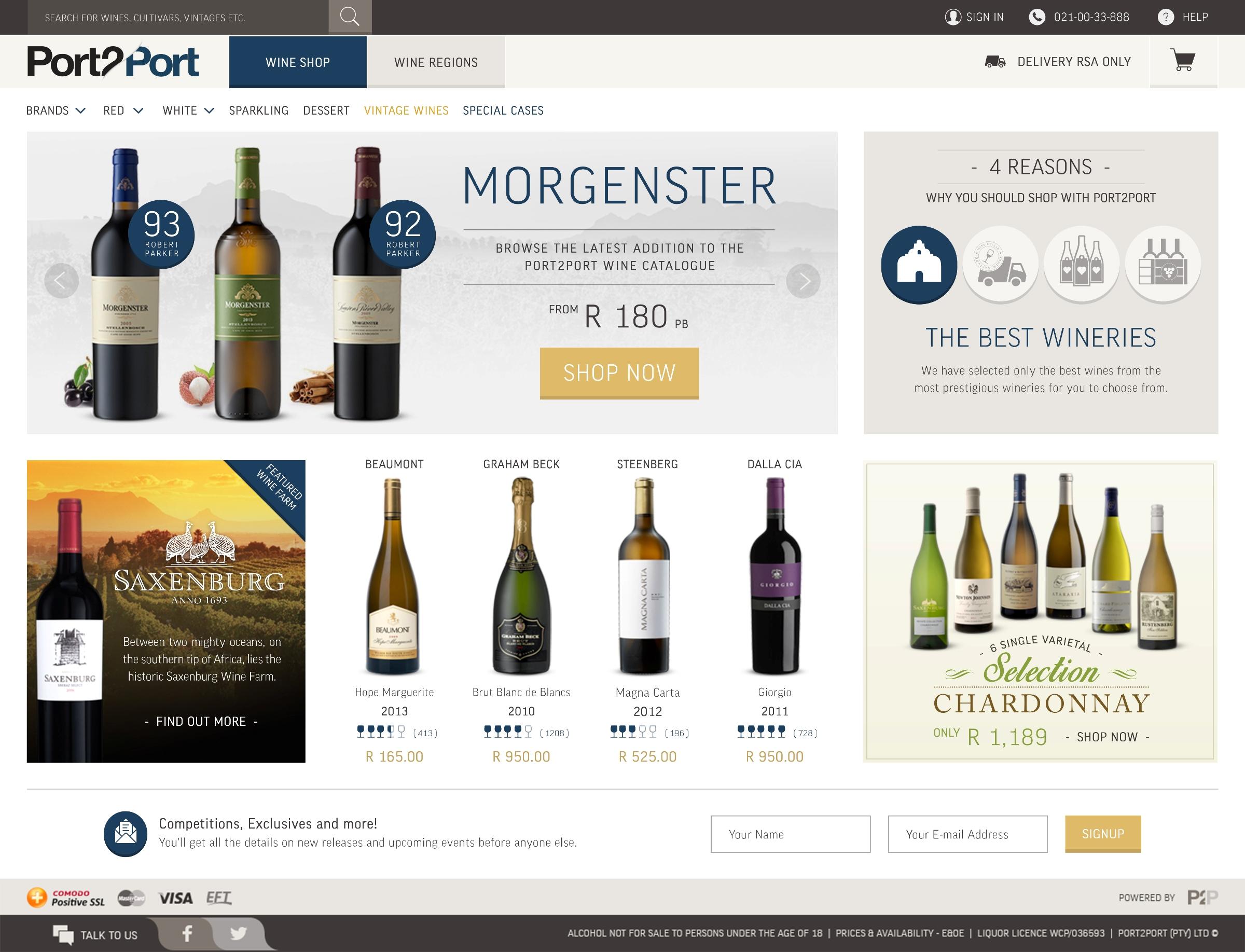 Port2Port - Homepage