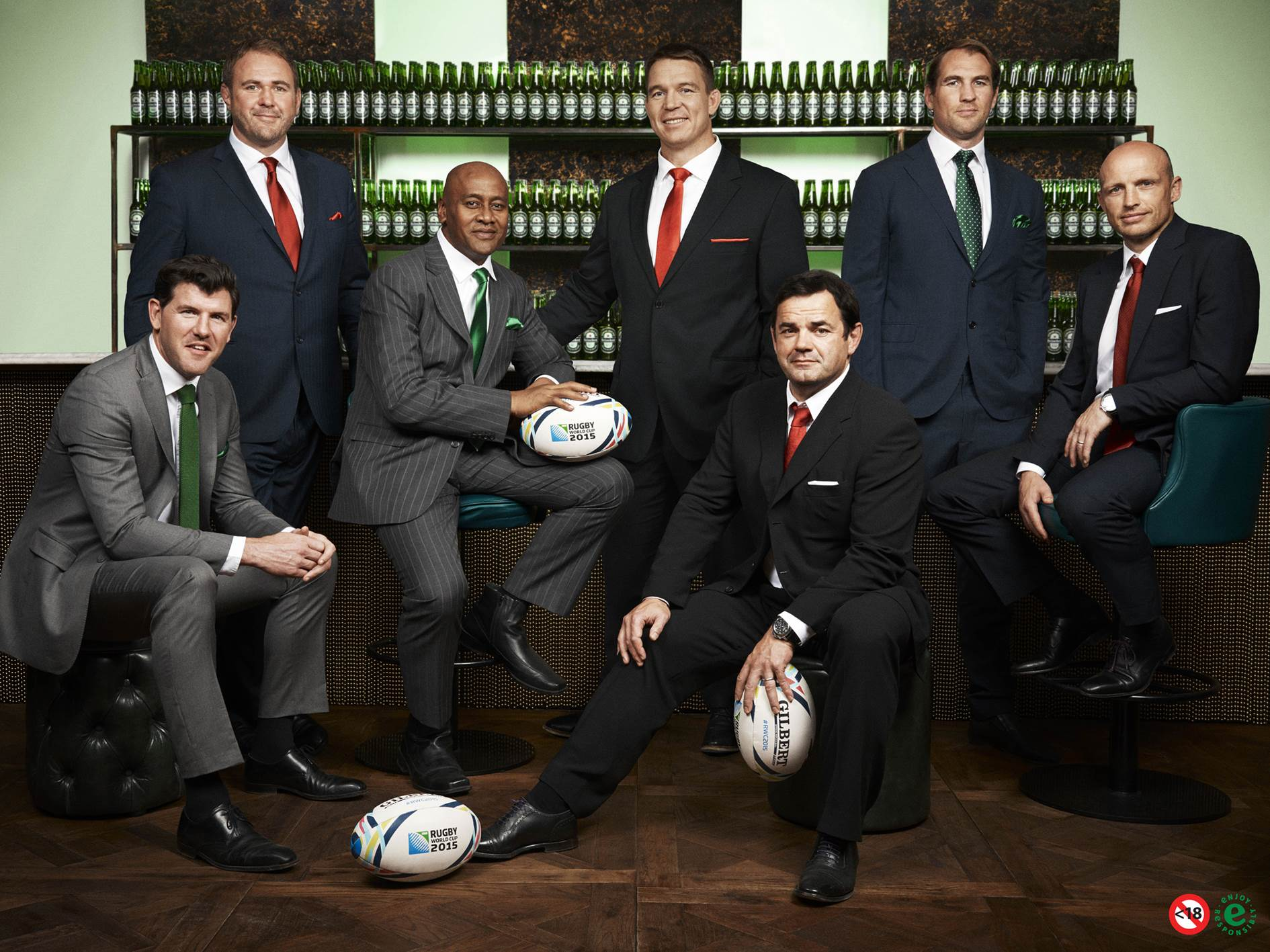 Shane Horgan, Scott Quinnell, Jonah Lomu, John Smit, Will Carling, Rocky Elsom and Matt Dawson have been announced as Heineken's Rugby World Cup 2015 legends.