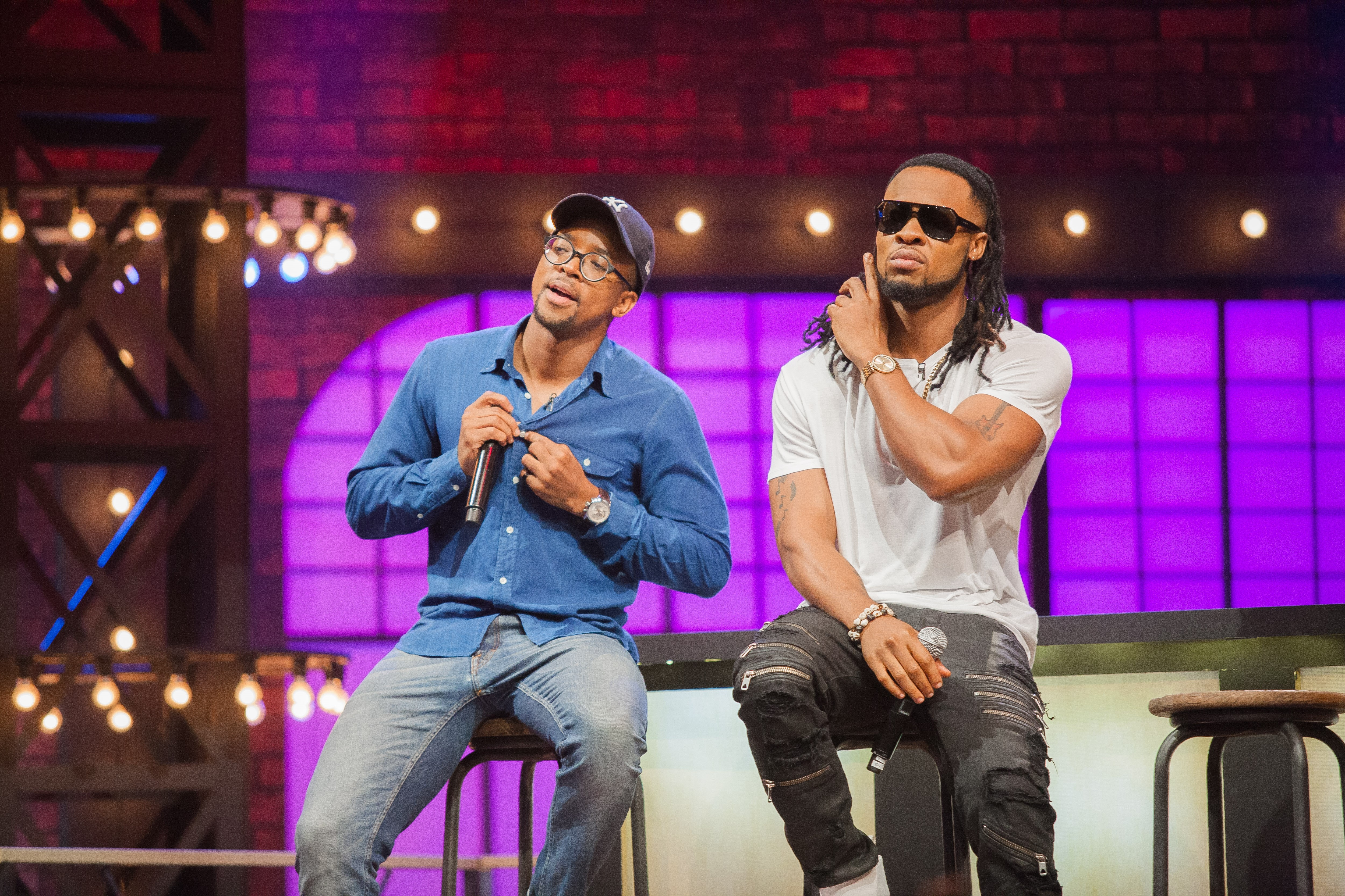 Images of Maps Maponyane and Flavour, courtesy of MTV